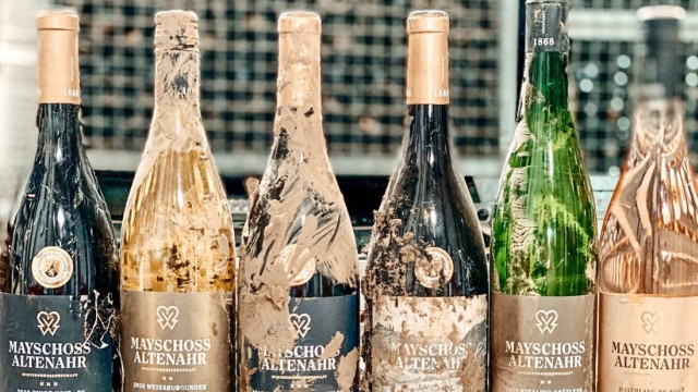 Hochwasser-Wein der Winzergenossenschaft Mayschoß-Altenahr