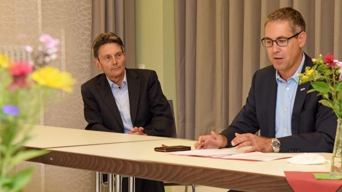 Bundestagswahl: Michael Schrodi (rechts) und Rolf Mützenich wollen auch in der kommenden Legislaturperiode für die SPD im Bundestag sitzen.