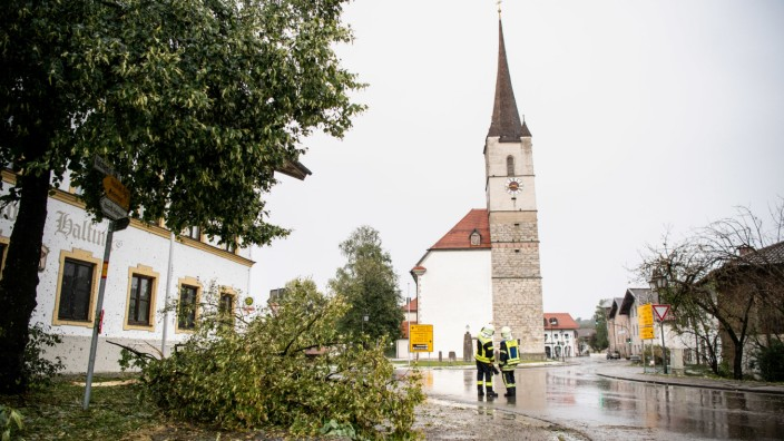 Unwetter im Landkreis Rosenheim