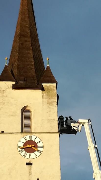 Unwetter Bayern Oberbayern Rosenheim Halfing Kirchturm