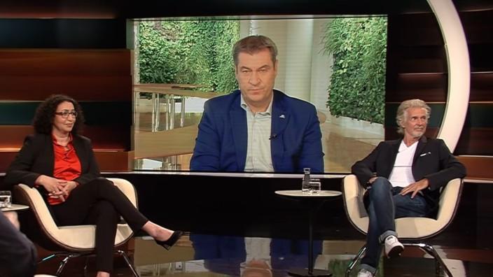 """TV-Kritik: Das Saubermann-Image, das sich Markus Söder gibt, gipfelt in dem Satz: """"Jeder Appell, den ich mache, geht immer an uns alle, auch an mich."""""""