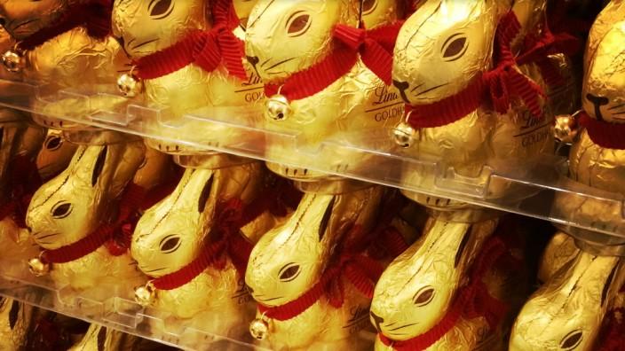 Schokolade: 40 Prozent Marktanteil: Der Schoko-Osterhase der Firma Lindt ist der meistverkaufte in Deutschland.