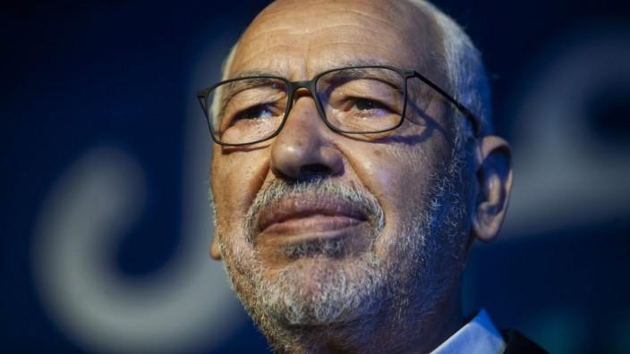 """Tunesien: Rached Ghannouchi erwartet von westlichen Staaten """"klare Stellungnahmen für die Demokratie""""."""