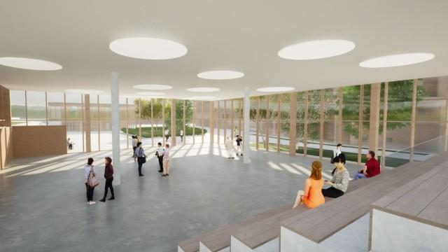 Bildung: Der Schulcampus in Aschheim soll in Holzhybridbauweise entstehen. Illustrationen: Köhler Architekten und beratende Ingenieure GmbH