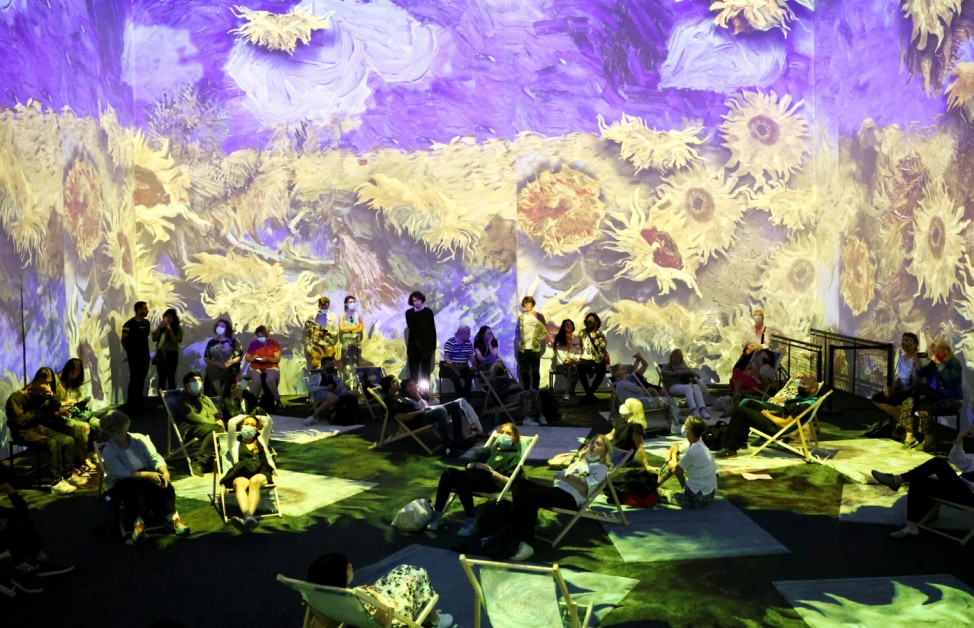 'Van Gogh: The Immersive Experience' as it opens to the public in London