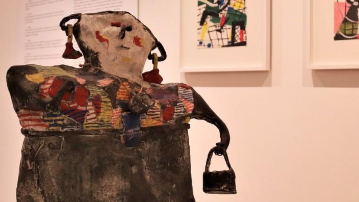 """Festival: Heimrad Prems """"Marktweiberl"""" (1963) ist in der Ausstellung """"Punkt, Linie, Fläche"""" im Schlossmuseum Murnau zu sehen. An diesem Sonntag ist dort das Festival Code Modern mit einem Konzert zu Gast."""