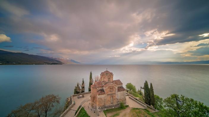 ohridsee,kirche des heiligen johann von kaneo *** lake ohrid uxj-hjt
