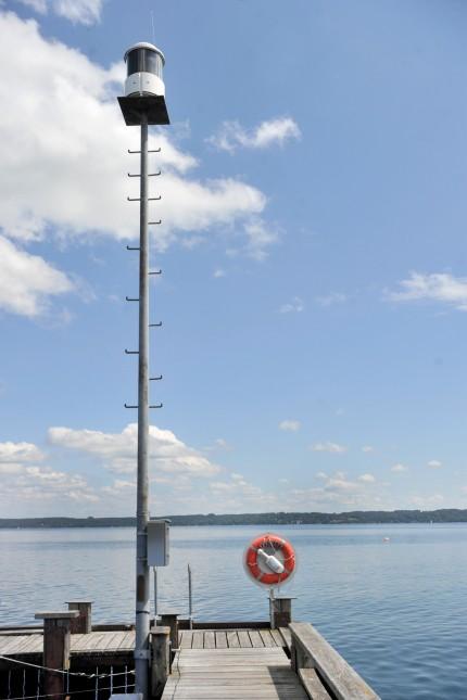 Tutzing: Wetterwarnleuchte am Deutschen Touring Yacht Club