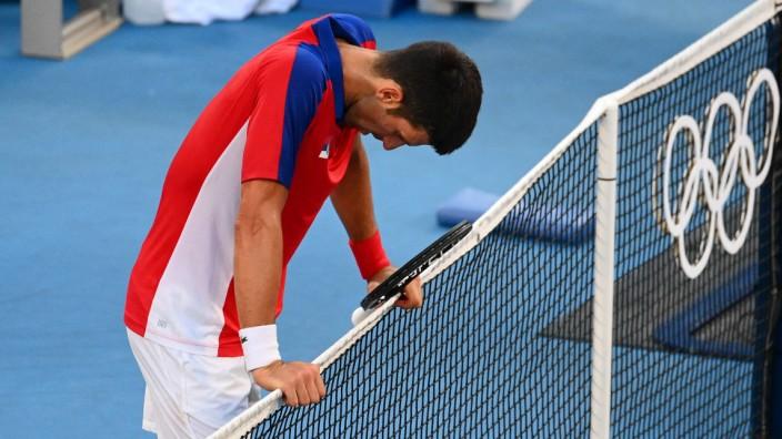 Novak Djoković bei Olympia: Sichtlich ausgelaugt - und ohne Olympia-Medaille: Novak Djoković.