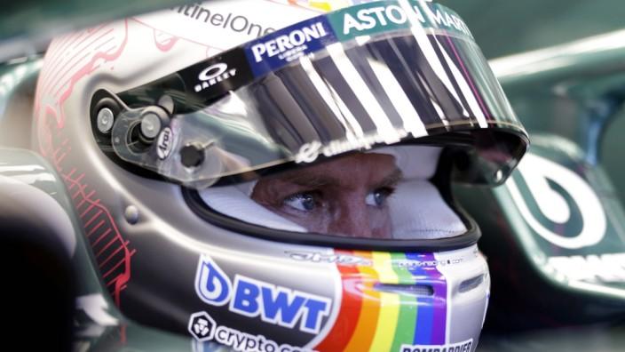 Formula 1 2021: Hungarian GP HUNGARORING, HUNGARY - JULY 30: Sebastian Vettel, Aston Martin during the Hungarian GP at