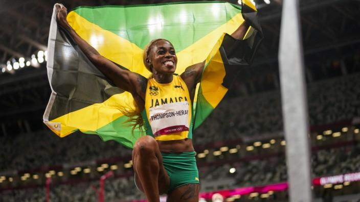 100-Meter-Finale der Frauen: Beste Sprinterin der Welt: Elaine Thompson-Herah.