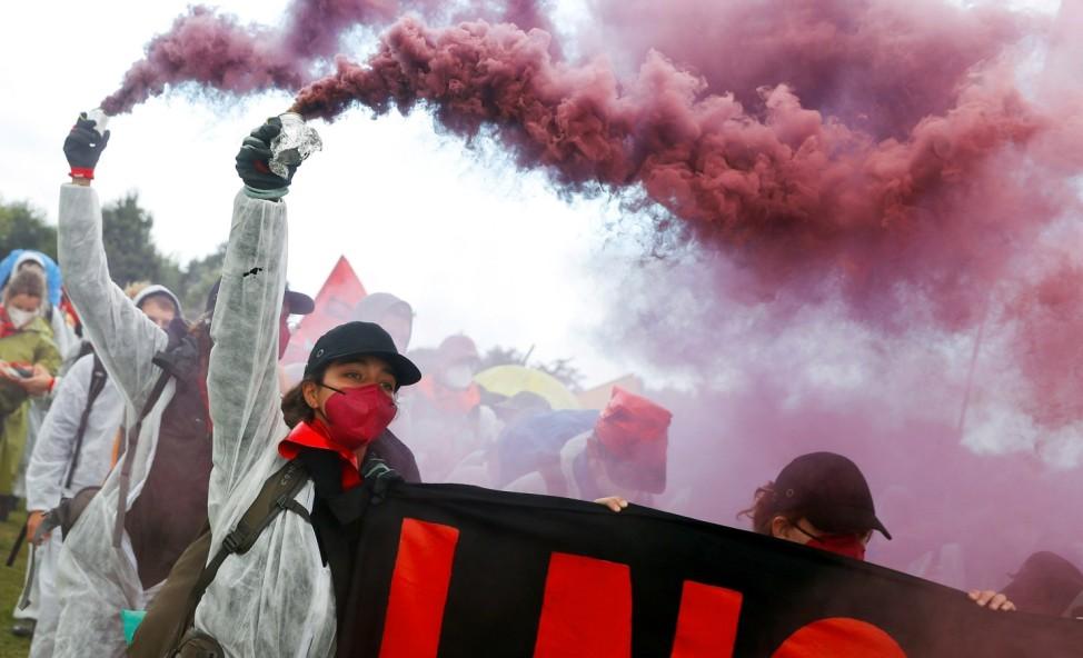 Ende Gelaende protest in Brunsbuettel