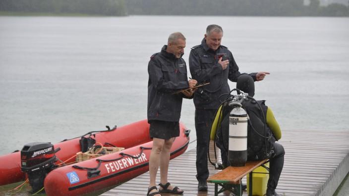Übung Wasserrettung der Berufsfeuerwehr, 2021