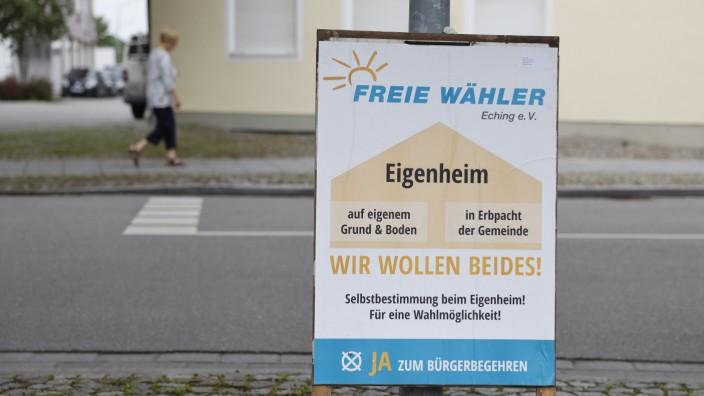 Im Echinger Gemeinderat: Die Echinger wollten laut Bürgerentscheid beides, nun bekommen sie beides: Wohnbauland wird künftig je zur Hälfte verkauft und verpachtet.
