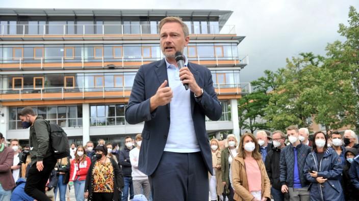 Starnberg: Kirchplatz FDP-  Christian Lindner