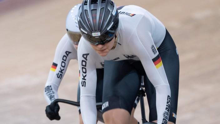 Emma Hinze vor den olympischen Bahnrad-Wettbewerben