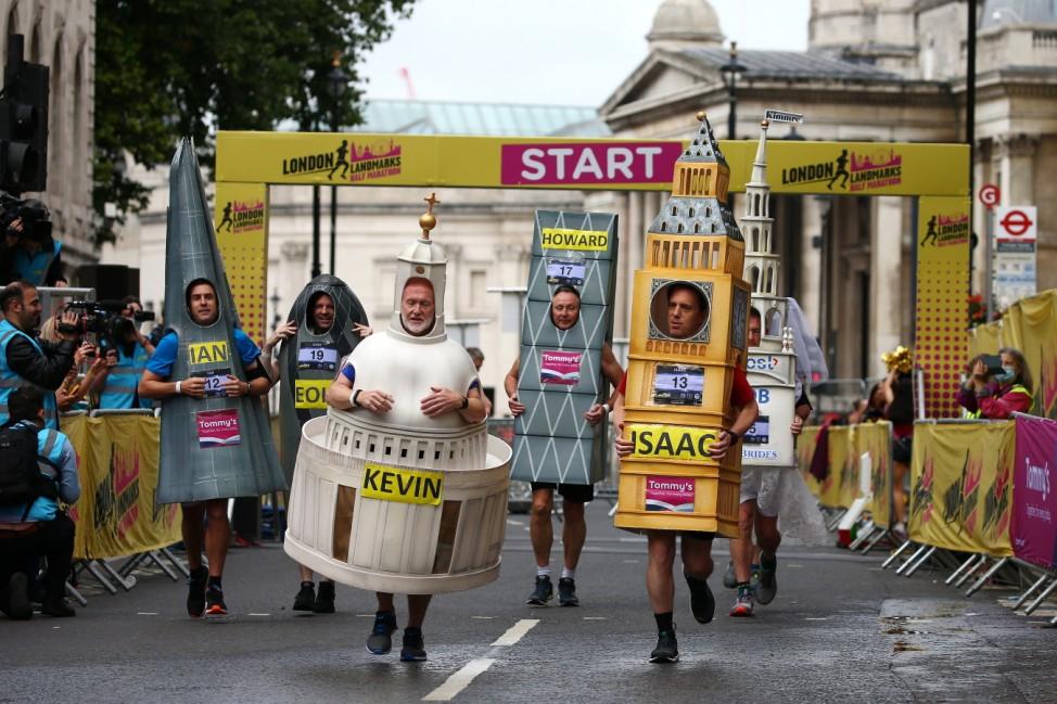Covid-19 Half-Marathon Run Through London's Landmarks