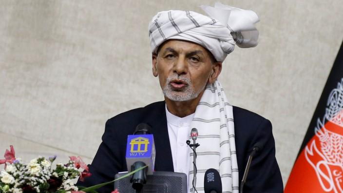 Aschraf Ghani, Afghanistan, Kritik am Truppenabzug des Westens