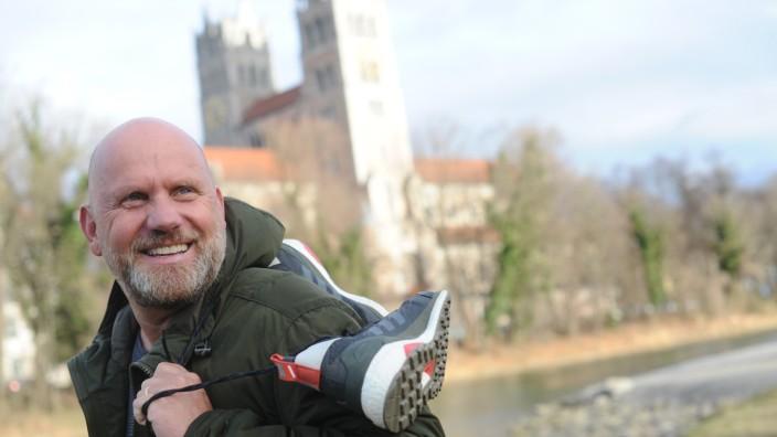 Stephan Alof an der Isar in München, 2020