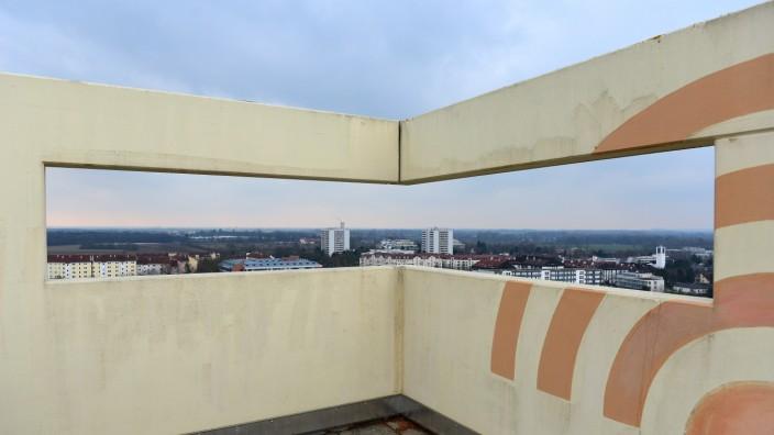 Stadtklima: Blick vom Hochhaus: Unterschleißheim ist sehr städtisch geprägt und hat entsprechende Probleme.