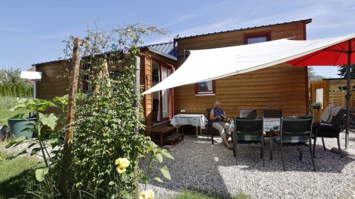Tiny House: Dagmar Schaller hat es bisher nicht bereut, sich für Wohnen im Kleinformat zu entscheiden.