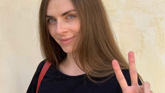 Die Opernsängerin Margarita Lewtschuk aus Belarus in Vilnius
