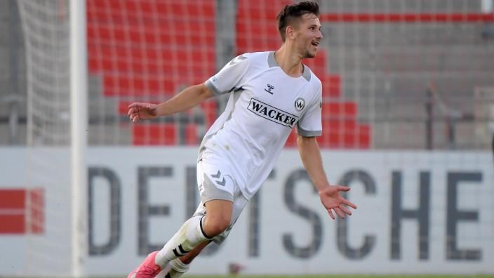 23.07.2021, xemx, Fussball Regionalliga Bayern, Spvgg Unterhaching - Wacker Burghausen emspor, v.l. Robin Ungerath (SV W