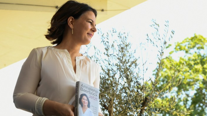 Germany's Green party candidate for chancellor Baerbock presents her book 'Jetzt: Wie wir unser Land erneuern\