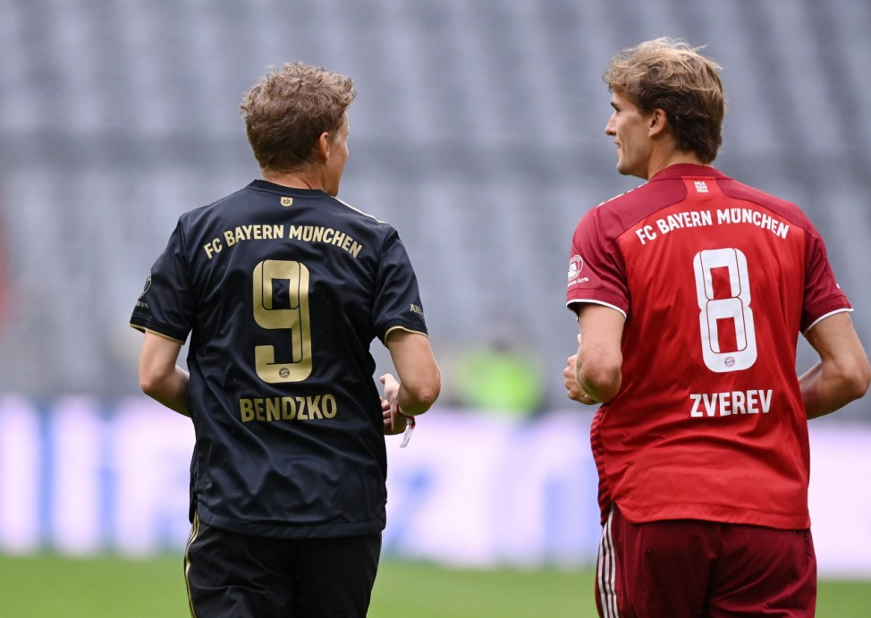 Fussball 1. Bundesliga Saison 2021/2022 Teampraesentation und Benefizspiel beim FC Bayern Muenchen in der Allianz Arena