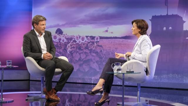 Robert Habeck bei Sandra Maischberger am 4. August 2021