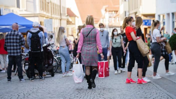 Coronavirus - Einkaufen in Tübingen