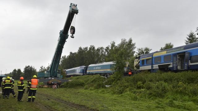 Nach dem Zugunglück in Tschechien