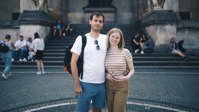 Touristen in München