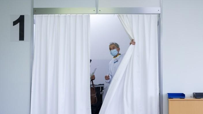 Coronavirus in der Schweiz: Ein Impfzentrum im Wallis