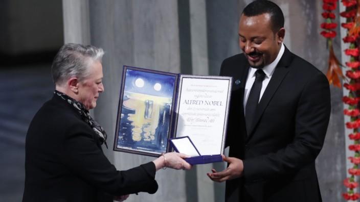 """Äthiopien: """"Krieg macht herzlos und verbittert"""", hat Abiy Ahmed im Jahr 2019 bei der Verleihung des Friedensnobelpreises in Oslo gesagt."""
