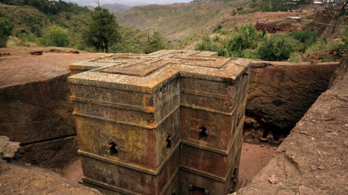Die rostroten Tuffsteinkirchen von Lalibela zählen zum Weltkulturerbe der Unesco.