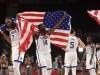 Joie des joueurs des USA Durant Kevin (USA) / Green Draymond (USA) BASKETBALL : Finale France vs Etats Unis - Jeux Olym