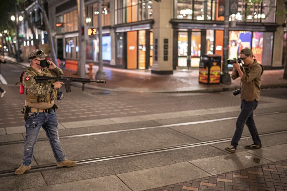 Right Wing And Left Wing Factions Clash In Portland