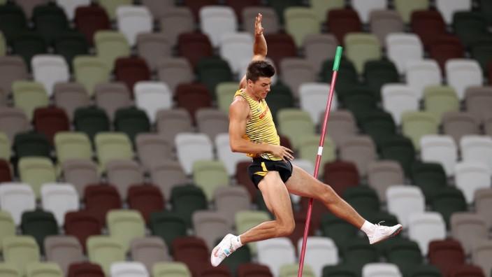 Olympia 2021: Stabhochspringer Oleg Zernikel aus Deutschland