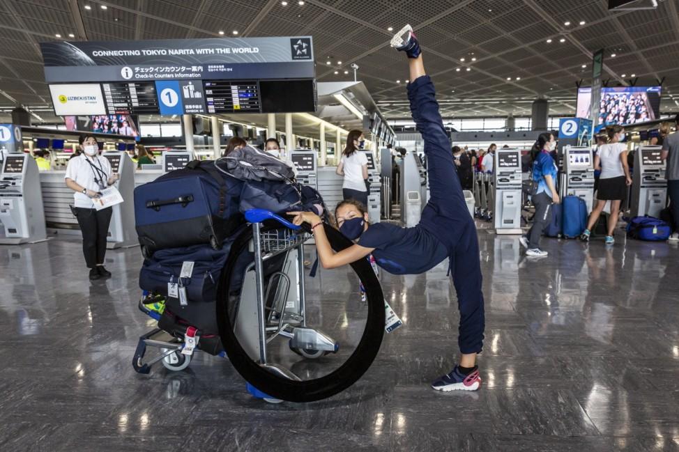 *** BESTPIX *** Olympic Delegations Return Home After Tokyo Games