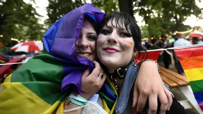 Auf der Prague Pride in der Hauptstadt Tschechiens Anfang August.