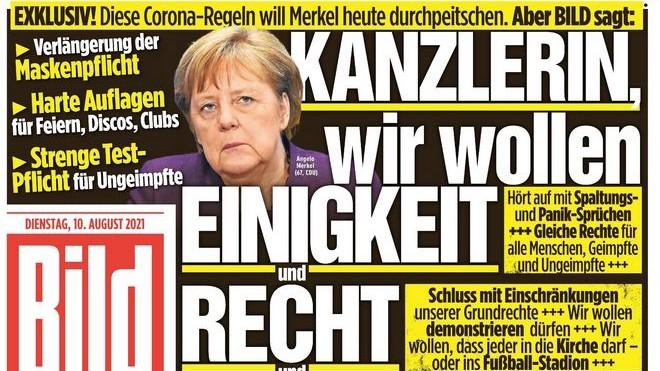 """Medienkolumne Abspann über die """"Bild""""-Zeitung: """"Bild""""-Titelseite vom 10. August 2021"""