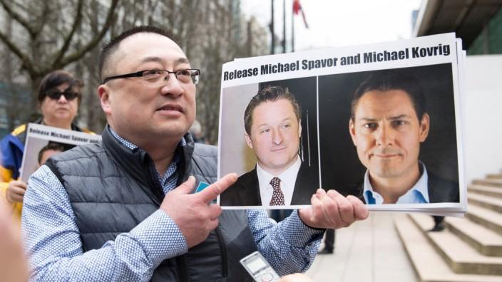China: Unterstützung aus Kanada: Michael Spavor und Michael Kovrig sind in China inhaftiert und verurteilt, weil sie spioniert haben sollen.
