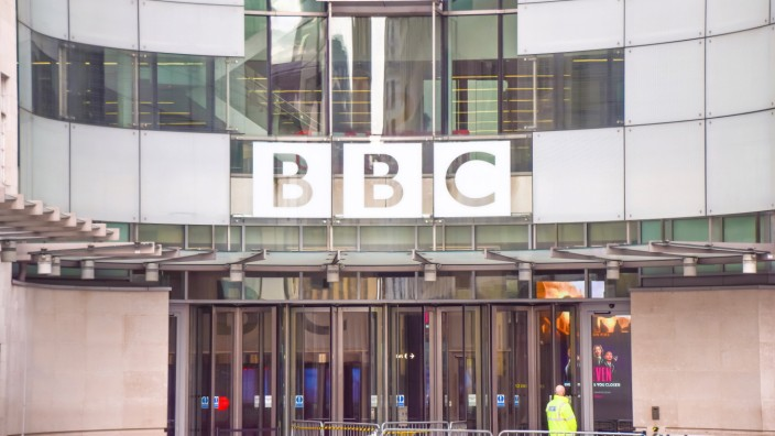January 17, 2021, London, United Kingdom: General view of the Broadcasting House, BBC headquarters in Central London. L