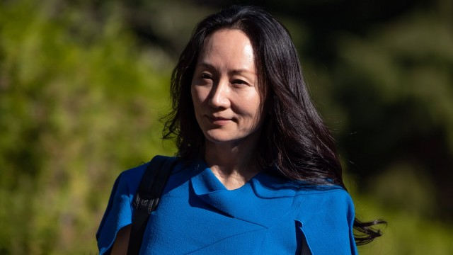 August 4, 2021, Vancouver, BC, Canada: Meng Wanzhou, chief financial officer of Huawei, leaves home to attend her extrad