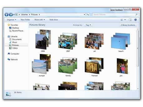 Dokumentenbibliothek, Windows 7 - Microsoft