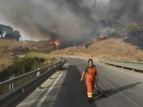 Hitze und Waldbrände: Auf Sizilien zeigt das Thermometer 48,8 Grad