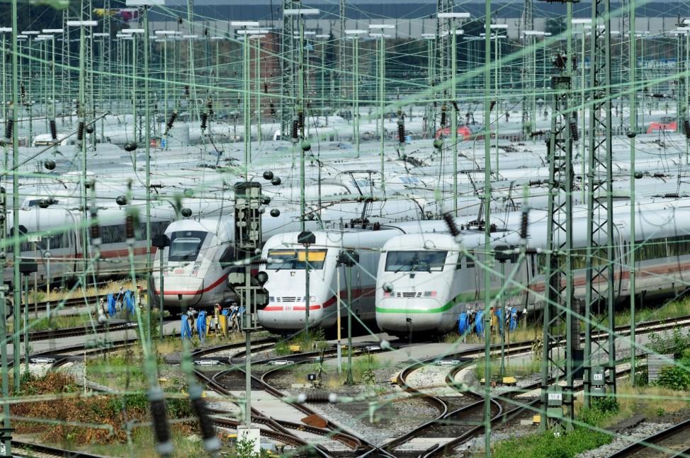 German rail union strike in Hamburg