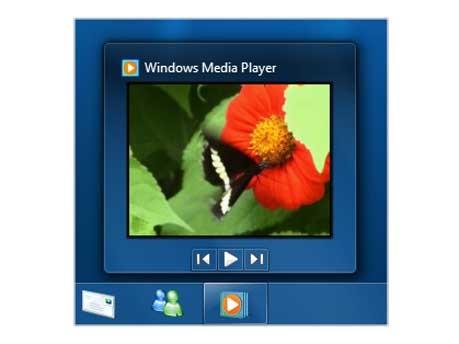 Medialayer in der Taskleiste, Windows 7 - Microsoft
