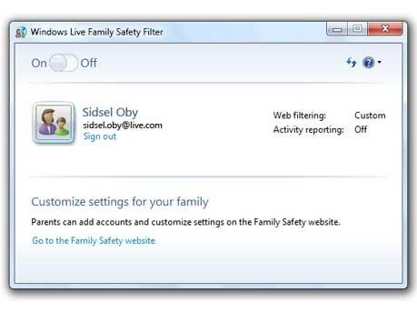 Windows Live Familien-Sicherheitsfilter, Windows 7 - Microsoft